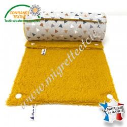Essuie-tout lavable, coton imprimé Pyramide façon Lin, éponge de coton