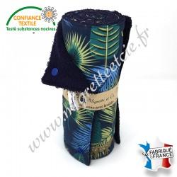 Essuie-tout lavable, coton imprimé Jangal, éponge bleu nuit