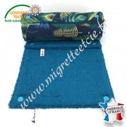 Essuie-tout lavable, coton imprimé Jangal, éponge de coton Paon