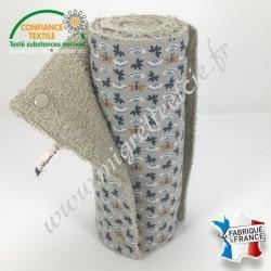 Essuie-tout lavable, coton imprimé Sasaki, éponge de coton Sable