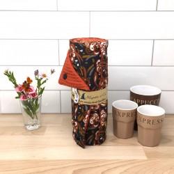Essuie-tout lavable, coton imprimé Zoelie, nid d'abeille, Migrette et Cie