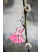 Boucles d'oreilles origami - Boucles d'oreilles artisanales fait-main